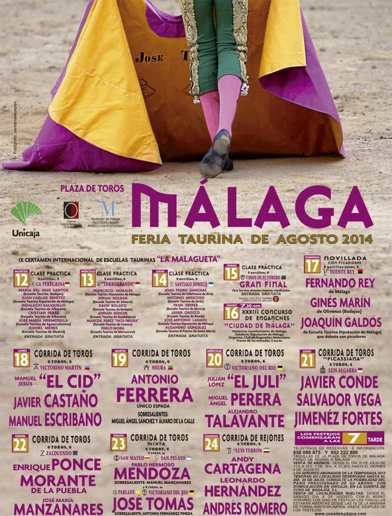 feria de málaga 2014 toros tomas juli ponce picassiana oferplan