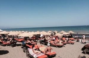 2 abonos para Los Álamos Beach+ Almuerzo en Sol Beach Club, hamacas y sombrilla para 2