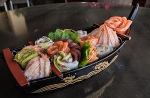 Carta libre en restaurante japonés para dos personas