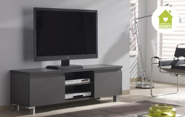 Mueble para tv 2 puertas con luz led descuento 69 89 for Mueble para tv con puertas